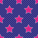 Pop Art Stars. Seamless pattern inspired by 60's style and comics stock illustration