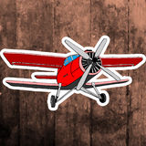 Pop art sticker. Hand drawing retro airplane Royalty Free Stock Image