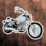 Pop art sticker. Hand drawing retro motorbike Stock Photography