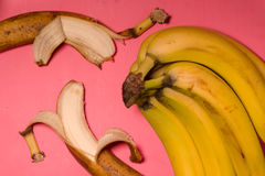 Pop art still life with banana top view. Pop art still life with bananas top view horizontal Stock Images