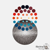 Pop art stippling spotted dotted ecircle. Pop-art style dots Royalty Free Stock Photo