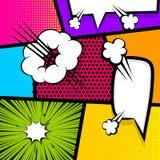 Pop art strip comic text speech bubble bomb Royalty Free Stock Photo
