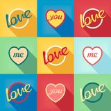 Pop-art style card symbol of love Royalty Free Stock Photography