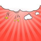 Pop-art style cloud explosion background template Stock Photos