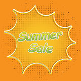 Pop Art style comic summer sale concept vector illustration. Pop Art style comic summer sale concept vector illustration royalty free illustration