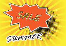 Pop Art style comic summer sale concept vector illustration. Stock Images