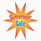 Pop Art style comic summer sale concept vector illustration. Pop Art style comic summer sale concept vector illustration stock illustration