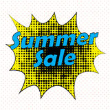 Pop Art style comic summer sale concept vector illustration. Stock Photography