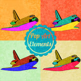 Pop art style elements. Set of vector shuttles Stock Image