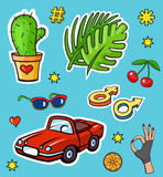 Pop art style fashion stickers Royalty Free Stock Images