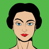 Pop Art style girl Stock Images