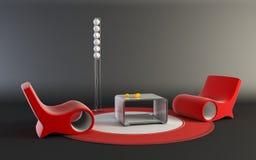 Pop-art style interior. 3D rendering of the pop-art interior scene royalty free illustration