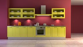 Pop-art style kitchen interior Stock Photo