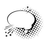 Pop Art Style Social Media Communication för pratstundbubblasymbol Royaltyfri Fotografi