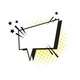 Pop Art Style Social Media Communication för pratstundbubblasymbol Fotografering för Bildbyråer
