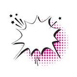 Pop Art Style Social Media Communication för pratstundbubblasymbol Royaltyfri Foto
