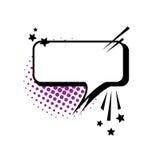 Pop Art Style Social Media Communication för pratstundbubblasymbol Arkivbild