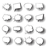 Pop Art Style Social Media Communication för uppsättning för pratstundbubblasymbol Royaltyfri Bild
