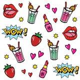 Pop art style stickers Stock Photos