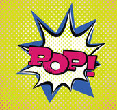 Pop Art Style Typography Royalty Free Stock Image
