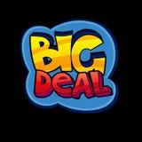 Big Deal pop art sign Royalty Free Stock Photography