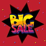 Big sale pop art sign Royalty Free Stock Photography