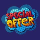 Special offer pop art sign Stock Photos