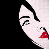Pop art style woman. A portrait of a girl in the style of pop art Royalty Free Stock Photos