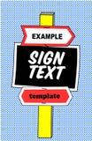 Pop Art Style Yard Sign Template stock illustration