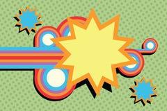 Pop art swirls abstract. Comic cartoon style illustration Stock Images
