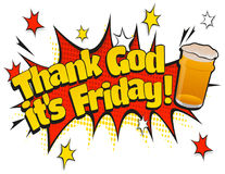 Pop Art Thank God its Friday Pint Day Sign Stock Photography
