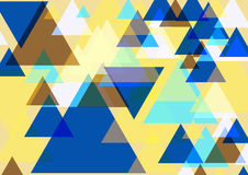 Pop art triangles. Colorful background. Three dimentional fantasy triangles pattern. Vector EPS 10 Royalty Free Stock Photography