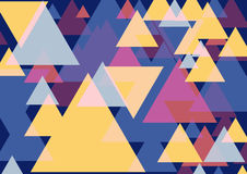 Pop art triangles. Colorful background. Three dimentional fantasy triangles pattern. Vector EPS 10 Royalty Free Stock Photos