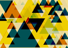 Pop art triangles. Colorful background. Three dimentional fantasy triangles pattern. Vector EPS 10 Stock Photography