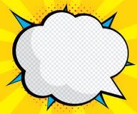 Pop art vazio abstrato da bolha do discurso, banda desenhada ilustração stock