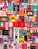 Pop-art vector collage Royalty Free Stock Images