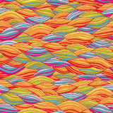 Pop-art Waves Seamless Pattern Stock Image