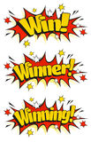 Pop Art Winning Signs Stock Photo