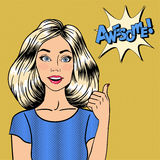 Pop Art Woman Gesturing Great Royalty Free Stock Photos