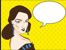 Pop Art Woman illustration comics style Royalty Free Stock Images