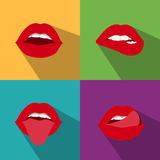 Pop art woman lips Royalty Free Stock Images