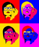 Pop art woman Stock Image