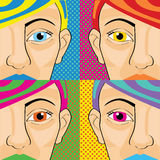 Pop art women Royalty Free Stock Images