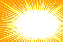 Pop art yellow background explosion. Retro vector illustration Royalty Free Stock Image
