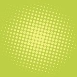 Pop Art Yellow Green Dots Comic-Achtergrond Vectormalplaatjeontwerp Royalty-vrije Stock Foto's
