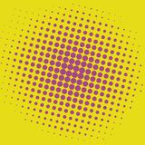Pop Art Yellow Purple Violet Dots Comic Background Vector Template Design royalty free illustration
