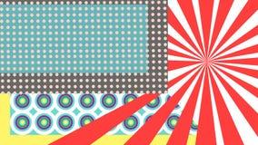 Pop-artdelen stock illustratie