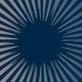 Pop-Arten-Artfreier raum des abstrakten kreativen Konzeptvektors komischer, Planschablone mit Wolkenstrahlen und lokalisiertes Pu Stockbild