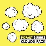 Pop-Arten-Blasenwolken-Vektorsatz Stockfotos