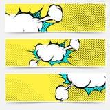 Pop-Arten-Comic-Buch-Explosions-Kartensammlung Stockfotografie